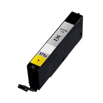 Refurbished High Capacity Yellow Canon CLI-571YXL Ink Cartridge - (CLI571YXL)